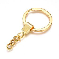 Kulcstartó alap. Arany szín.