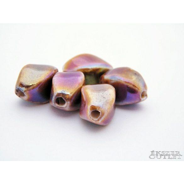 Porcelán gyöngy. 9-10x15-16mm. Mindig akcióban!