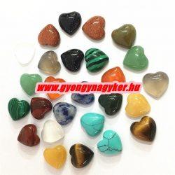 Ásványgyöngy szív gyöngy. Válassz ásványt!