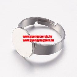 Állítható, acél gyűrű alap.