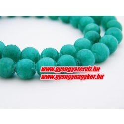 Jade ásványgyöngy. 8mm.  Zöld.