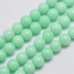Jade ásványgyöngy. 8mm. Menta.