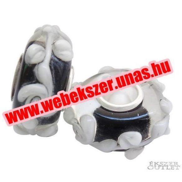 Pandora stílusú üveg gyöngy. Lámpagyöngy. 917895. Leárazva!