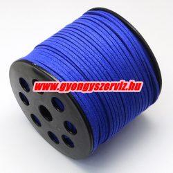 Velúr zsinór. 2.7x1.4mm. Csillogó kék.