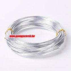 Alumínium ékszerdrót. 2mm. Ezüst. 3m.