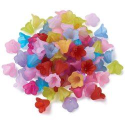 Matt akril virág gyöngy. 12 színben. Mindig akcióban!
