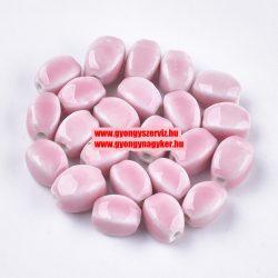 Porcelán gyöngy . 14x11x11mm. Rózsaszín.