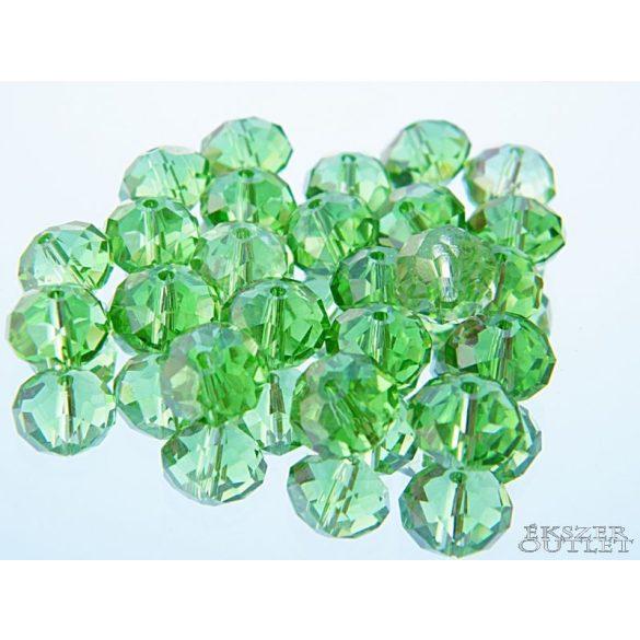 Csiszolt üveggyöngy.  Zöld. Mindig akcióban!